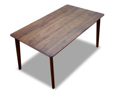 ダイニングテーブル 食堂机 食卓 【スローライフIISX】シリーズ 長方形 幅140cmサイズ 天然木 ウォールナット 角丸【smtb-KD】