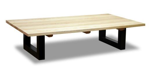 テーブル センターテーブル フロアテーブル 机 【オセロ】 幅120cmサイズ リビング モダン スクエア 天然木 タモ ナチュラル ブラック ツートン 手作り 国産 日本製【smtb-KD】