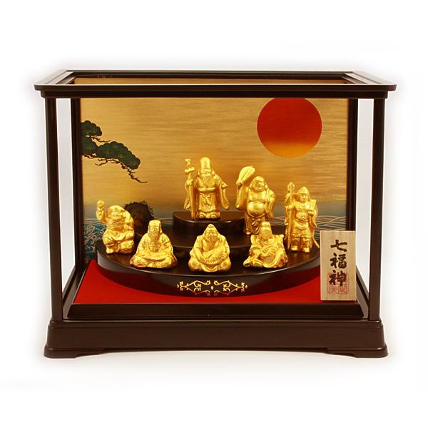 金箔貼 七福神置物「七福神/ケース付」