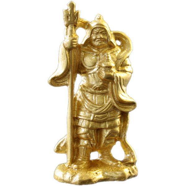 金箔貼置物「七福神/毘沙門天」