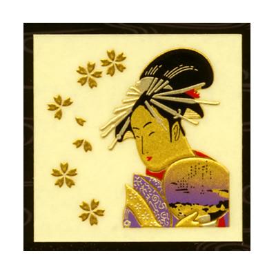 浮世絵 歌舞伎 粋でイナセな江戸文化 和風 ゴージャスに あす楽対応 美人画 特価 シール 豪華な ゲーム機 金蒔絵うつし絵 携帯電話