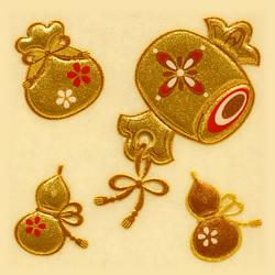 浮世絵・歌舞伎・粋でイナセな江戸文化!和風&ゴージャスに♪【あす楽対応】 【携帯電話 シール】 うつし金蒔絵「打出の小槌」