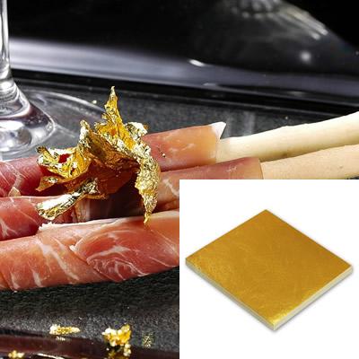 食品用金箔「純金の華(109mm角/100枚)/竹箸(中)付」