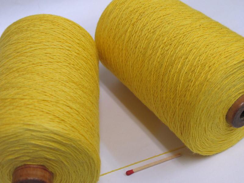 綿糸ならこれで決まり 豊富なバリエーションからお好きな色をどうぞ 10 2綿 黄色 やわらかくて使いやすい オンライン限定商品 手織りにも手編みにもオススメの綿糸が43色 格安激安 人気の定番シリーズです