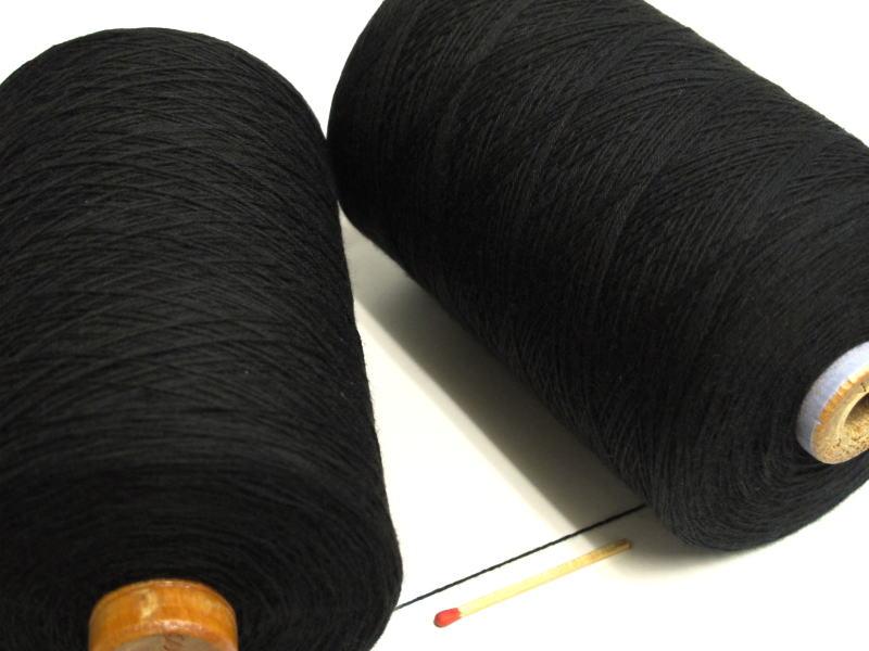 さきおりをされる方はこれ 裂織用経糸 綿 黒 ショップ 手編みにもお使い頂けます 手織りはもちろん 裂織りをはじめ 各種織物用の経糸にピッタリな綿糸です 特価キャンペーン