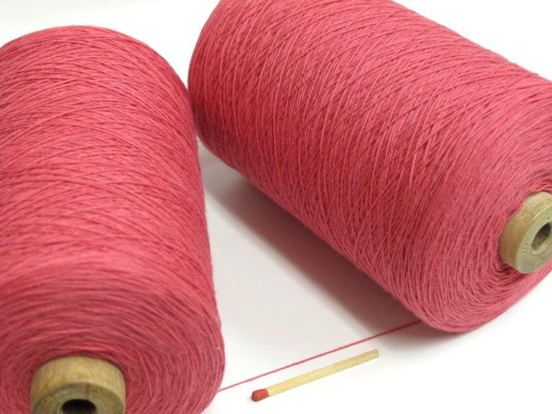 新色追加 さきおりをされる方はこれ 裂織用経糸 綿 国内正規品 朱色 手織りはもちろん 裂織りをはじめ 手編みにもお使い頂けます 各種織物用の経糸にピッタリな綿糸です