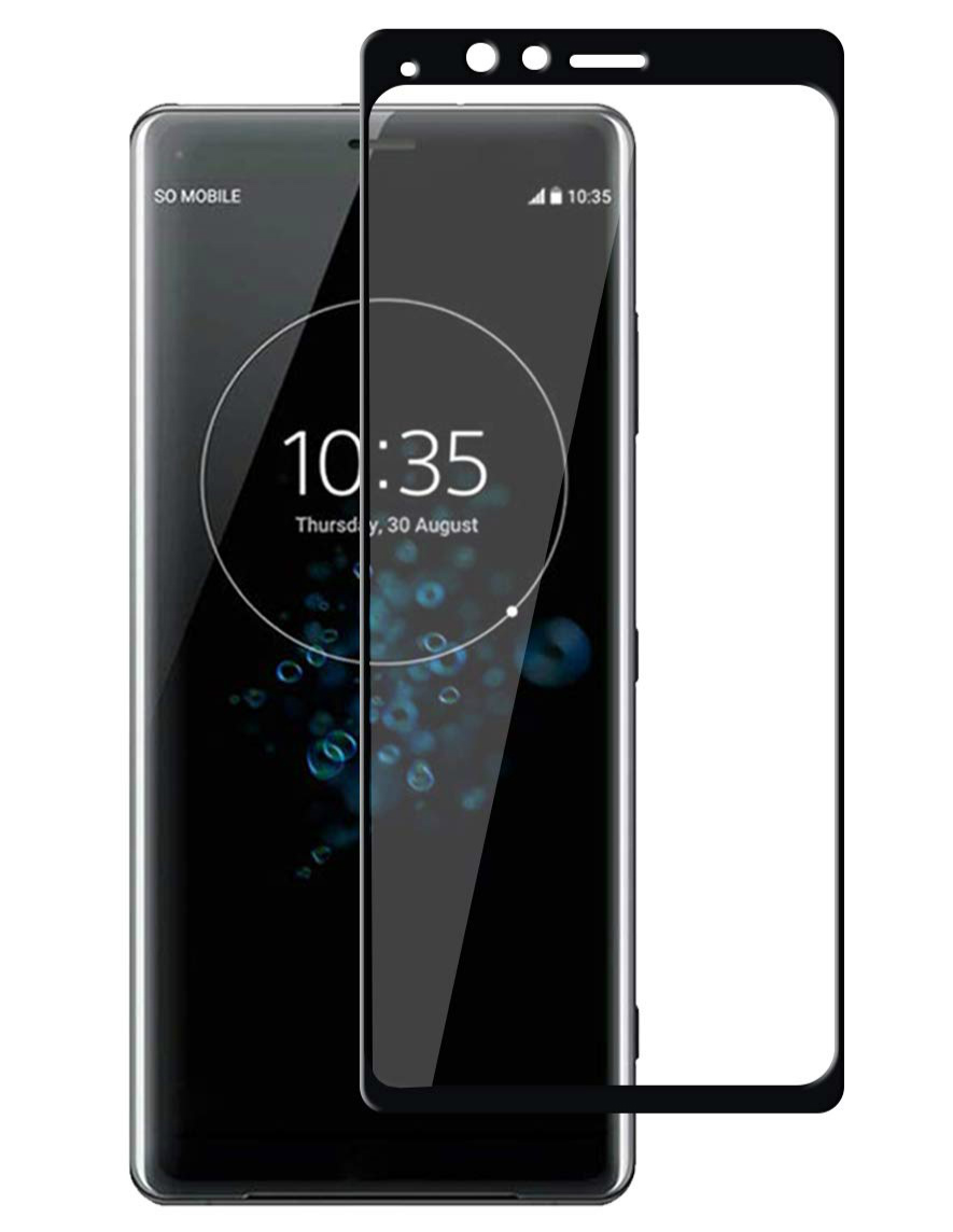 日本製硝子使用 二枚セットXperia XZ4 フィルム 即納 3D全面保護フィルム 液晶強化ガラス 全面フルカバー 硬度9H ブラック 99%透過率 信頼