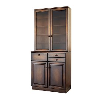 キツツキのマークの飛騨産業 穂高シリーズ Cabinet HK402 キッチンキャビネット カンブリア宮殿