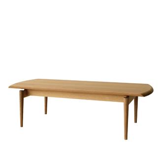 キツツキのマークの飛騨産業 SEOTO(セオト) KD102TN・リビングテーブル。 ナラ材(センターテーブル) カンブリア宮殿