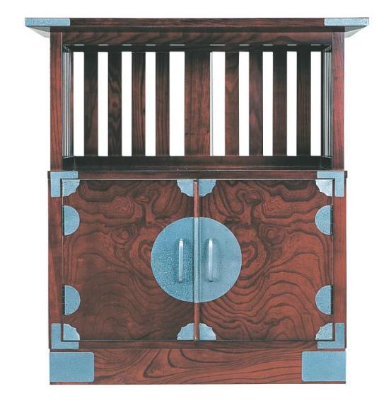 【送料無料】筑後民芸家具 宝箪笥 T-24 飾り棚 時代塗