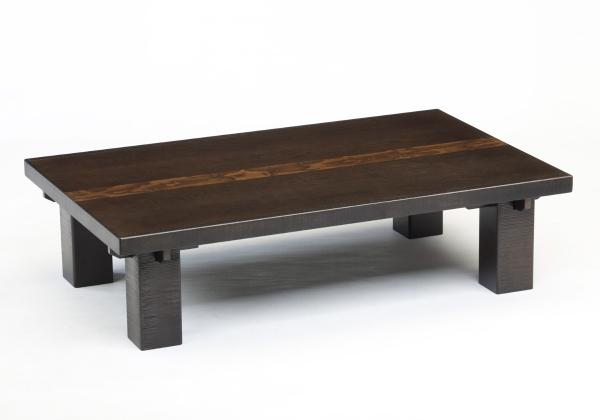 135幅 長方形タイプ 【京の都】 座卓 フロアテーブル 座卓 机 文机 ローテーブル ダイニングテーブル テーブル 和風テーブル 木製 天然 無垢