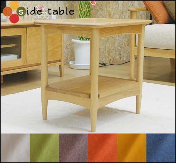 北欧スタイル の サイドテーブル 北欧 オーク 材 ナチュラル 木製 天然木 机 ダイビング や リビング ベッド ルーム に