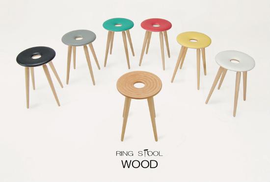 天童木工 リングスツール 『Ring stool』 T-3195WB-NT