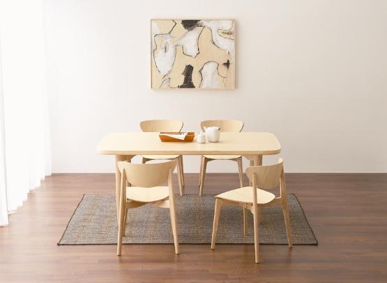 天童木工 160cmタイプ 食堂テーブル 『柳宗理』 T-2671AS-SP