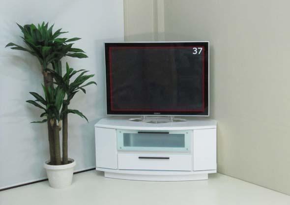 正面置きも出来るコーナーテレビボード ロータイプ(H:460mm)寝室 ベッドルーム テレビボード テレビ台 ローボード コーナー 完成品