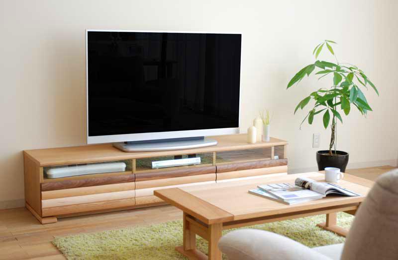 天然木の素材感が和みをあたえてくれる 北欧風のリビングボード 日本製180cmテレビボード テレビボード テレビ台 ローボード 天然木 無垢材 コーナー 完成品