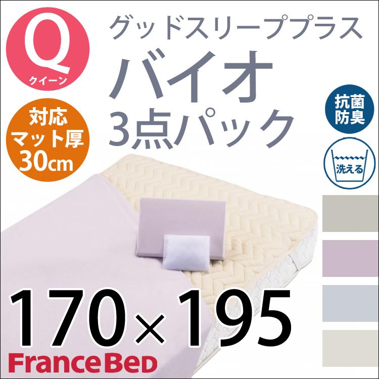 【寝具3点セット クイーン】グッドスリーププラス バイオ3点パック Francebed フランスベッド