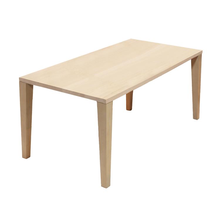 【160×85cm】【ビーチ×木製4本脚】324通りカスタムオーダーダイニングテーブル