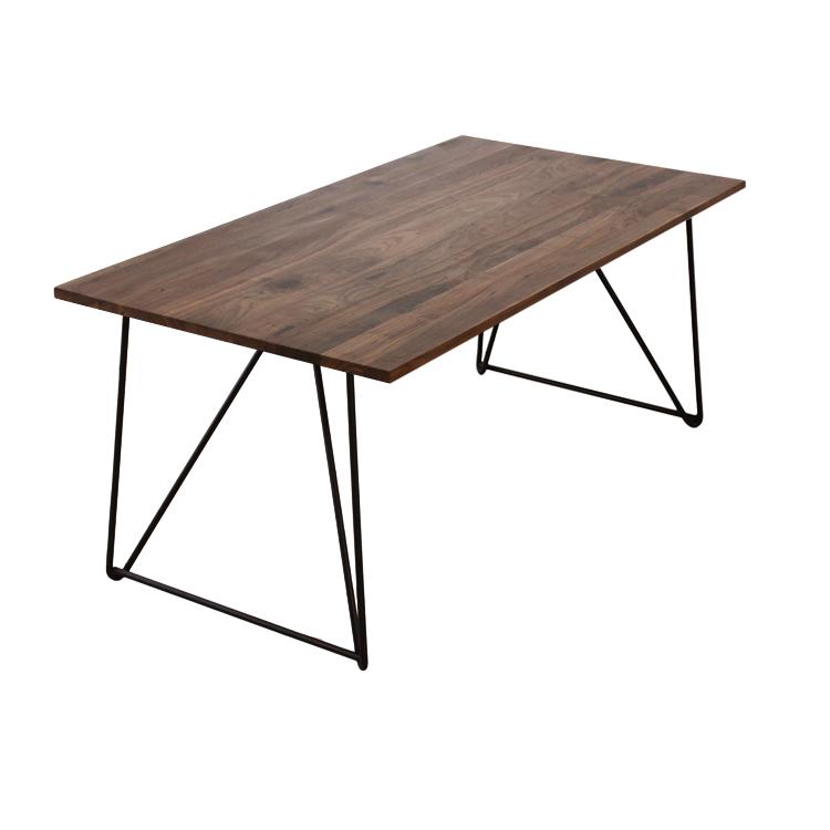 【180×90cm】【ウォールナット×鉄製ワイヤー脚】324通りカスタムオーダーダイニングテーブル