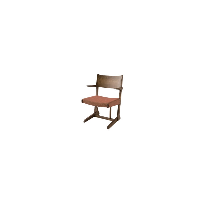 【FK260A】【張地Bランク】LDセミアームチェア 木かげ W62×D55×H78×SH37×AH59cm 飛騨産業