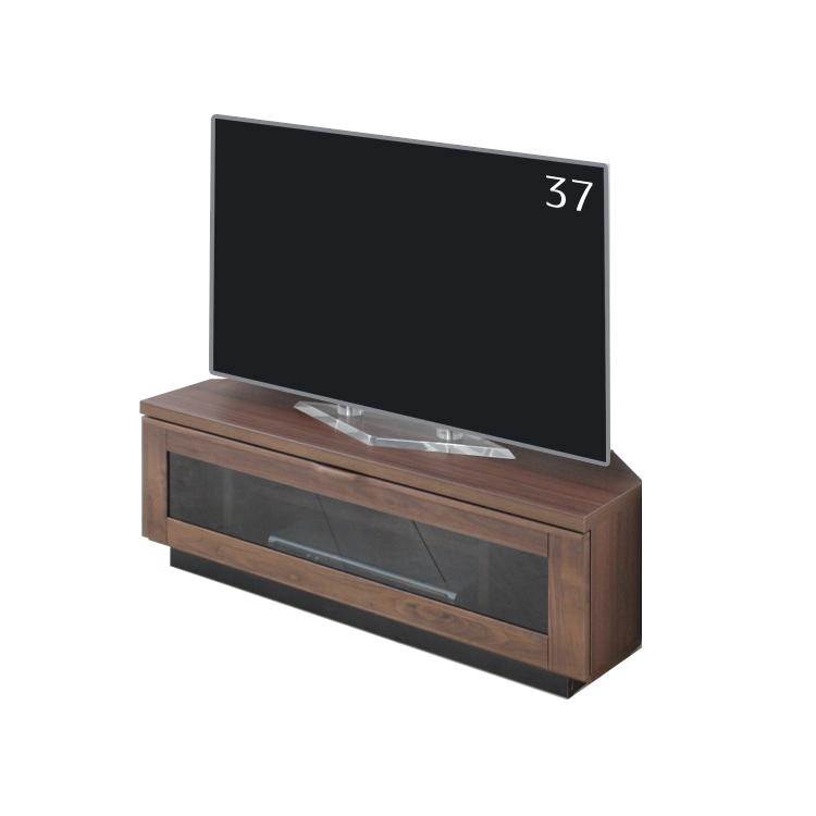 【100コーナータイプTVB】W100×D42×H38.5cm ラパス TVB テレビボード ウォールナット天然木無垢材使用