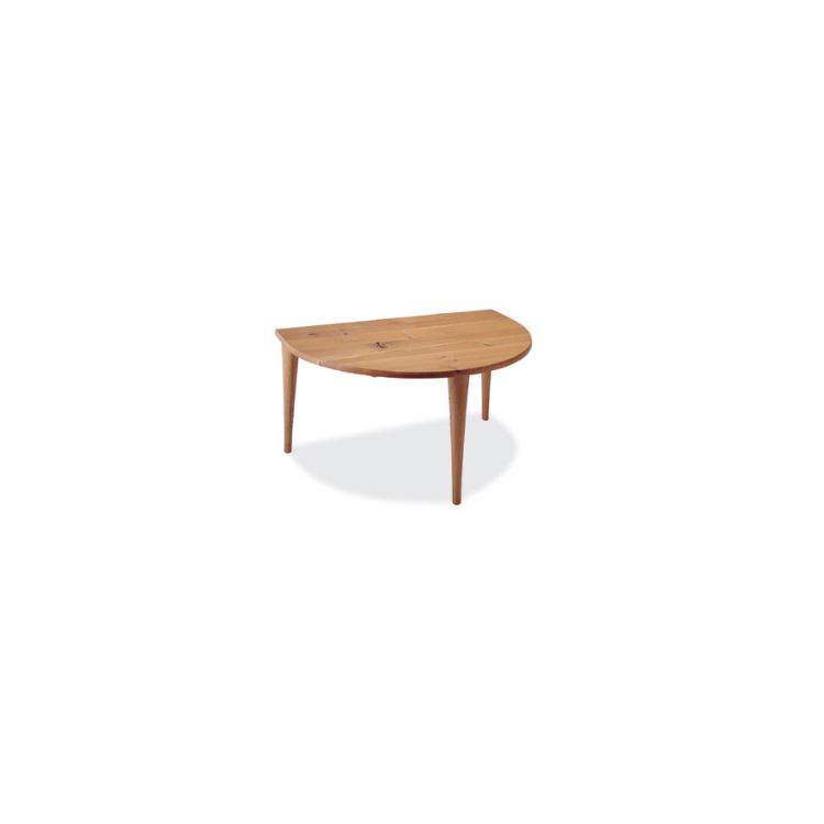 【SN390WP】【150幅】半円形テーブル W150×D100×H70.5×T3.5cm 森のことば 飛騨産業