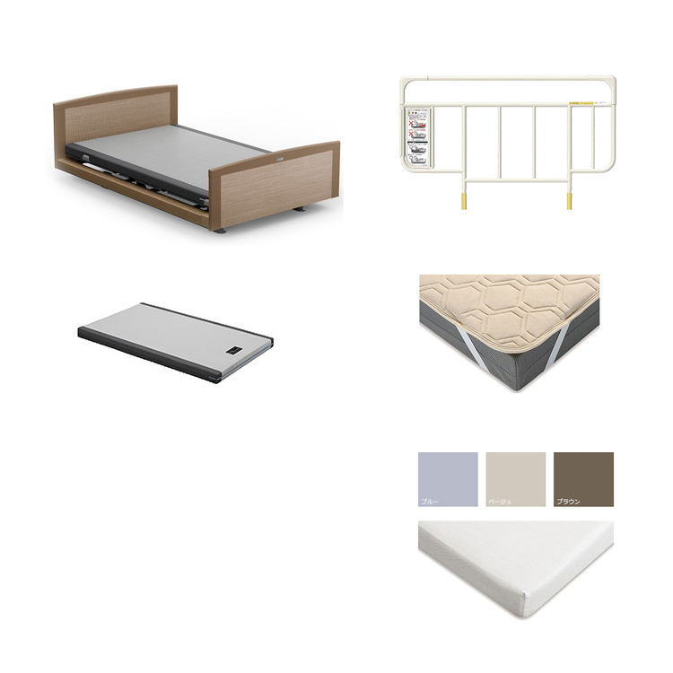 【3Mセミダブル5点セット】フレーム+マットレス カルムコア INTIME 1000 電動ベッド