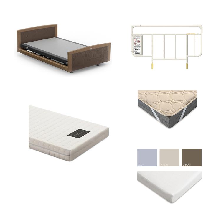 【3Mセミダブル5点セット】フレーム+マットレス グレイクス1000 INTIME 1000 電動ベッド