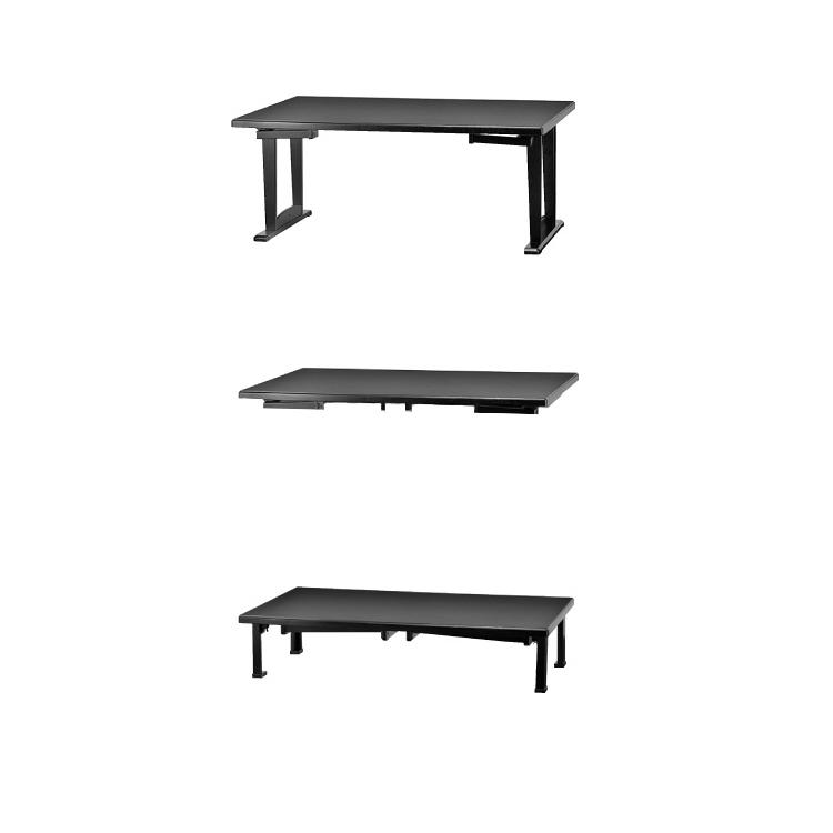 【幅180×奥行45】和洋兼用2WAYテーブル 幅180×奥行45×高61(33)cm 重量:約14.6kg 軽座
