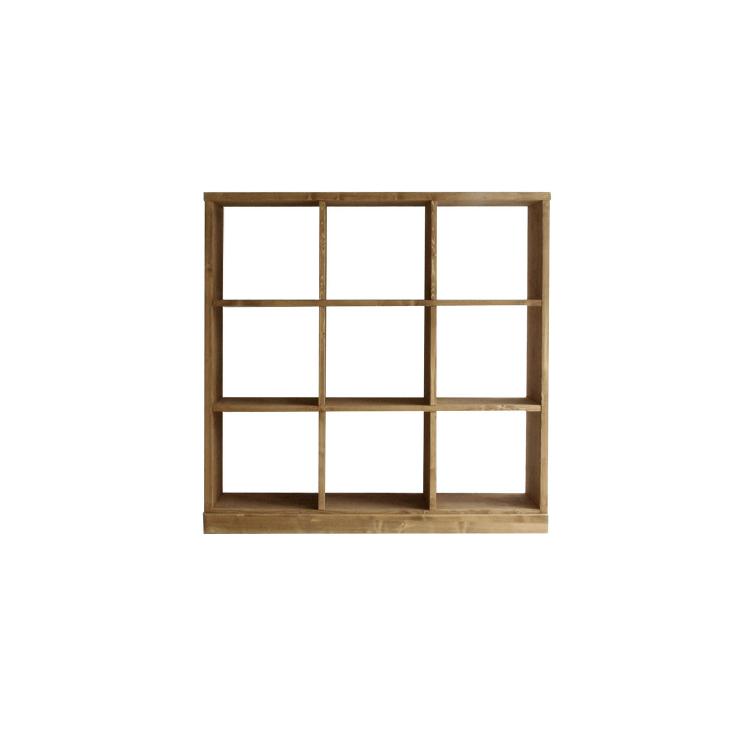 幅1044×奥行き290×高さ1172mm roselle shelf(3×3)ローゼル シェルフ(3×3) ノラ nora mam マム 関家具