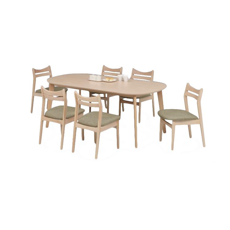 【11/4(月)20時~クーポン有】 【アダム180テーブル+UKDC-03×6脚】7点セット Select Dining Series