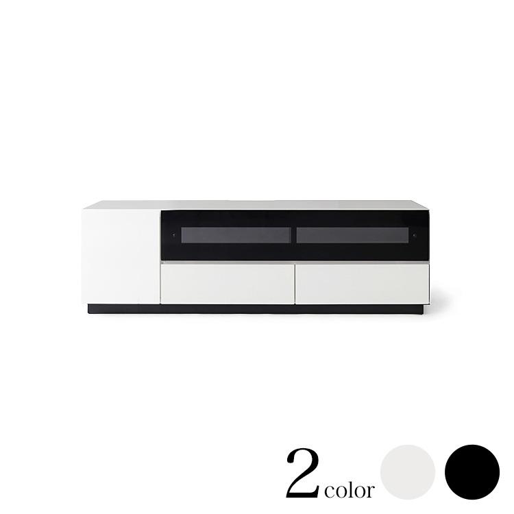 【140幅】W1400×D420×H400mm ロータイプテレビボード CHESS チェス