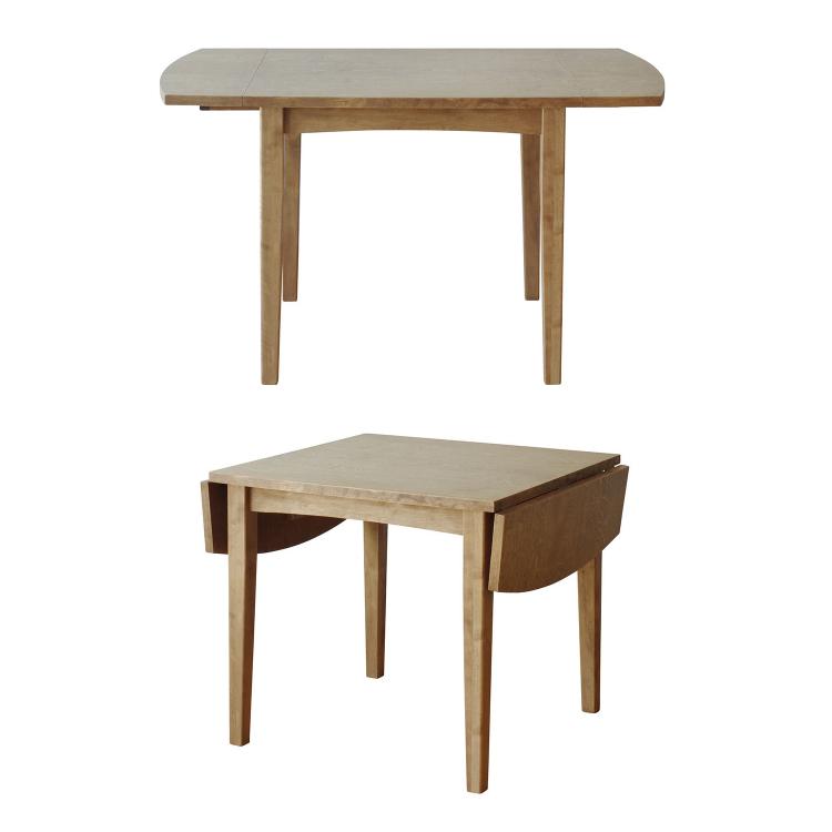 幅780-1240×奥行き780×高さ700 伸長時:W1240mm ギモーブ 伸長テーブル ノラ nora and g アンジー 関家具