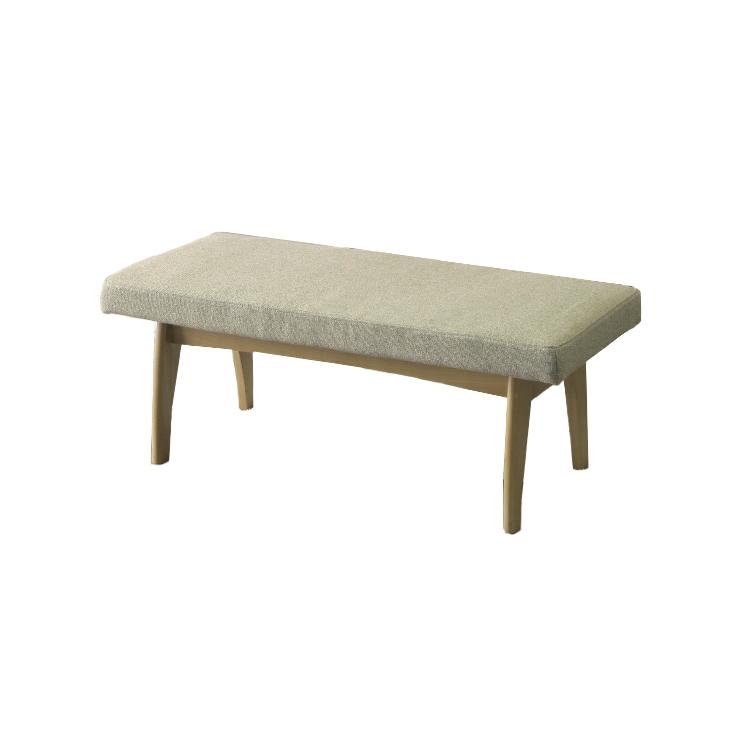 【110幅ベンチ】ルシェル 背付きベンチのリビングダイニング タモ無垢 天然木 LDソファ