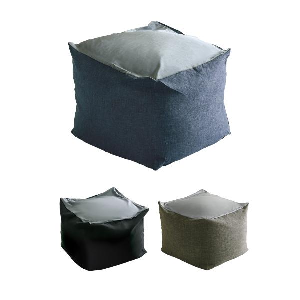 【XLサイズ】新配合でヘタリにくい キューブ型ビーズクッション ダークカラー |Guimauve Neo-ギモーブネオ- | ダークカラー