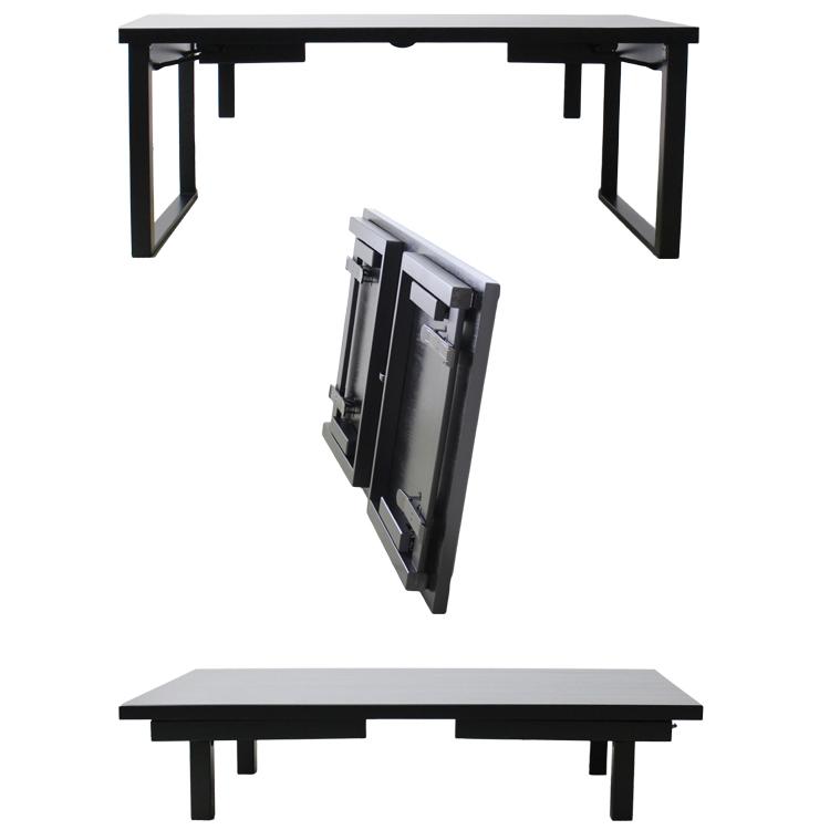 【幅180cm】和洋兼用折れ足テーブル 食卓と座卓1台2役【6人掛け】