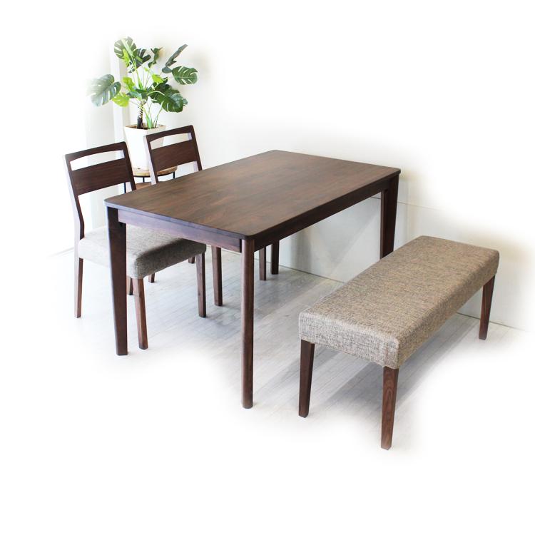 meets ミーツ【140cmテーブル4点セット】テーブル×1台・チェア×2脚・ベンチ×1台