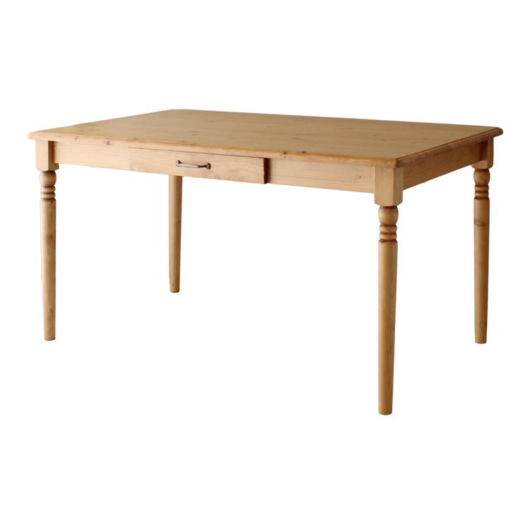 【165cmテーブル】パイン無垢材の木目が魅力的なダイニングシリーズ