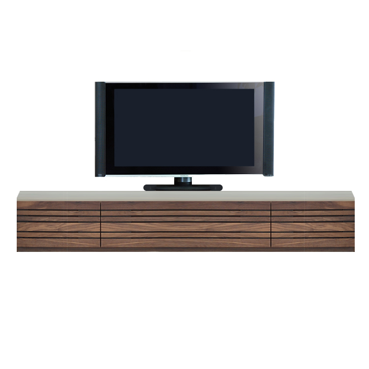 【240cm】ロータイプ テレビボード 天然木 無垢 オプションのBOXキャビネット2サイズ【日本製】
