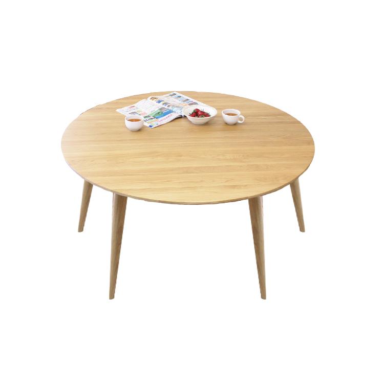 【メーカー在庫限り】 北欧調ホワイトオーク材の明るくナチュラルなダイニングテーブル 120cm 円形テーブル 丸型テーブル 単品 食堂テーブル 135cm 長方形テーブルもあります。