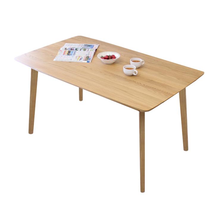 【メーカー在庫限り】 北欧調ホワイトオーク材の明るくナチュラルなダイニングテーブル 135cm 長方形テーブル 単品 120cm円形 丸型テーブルもあります。