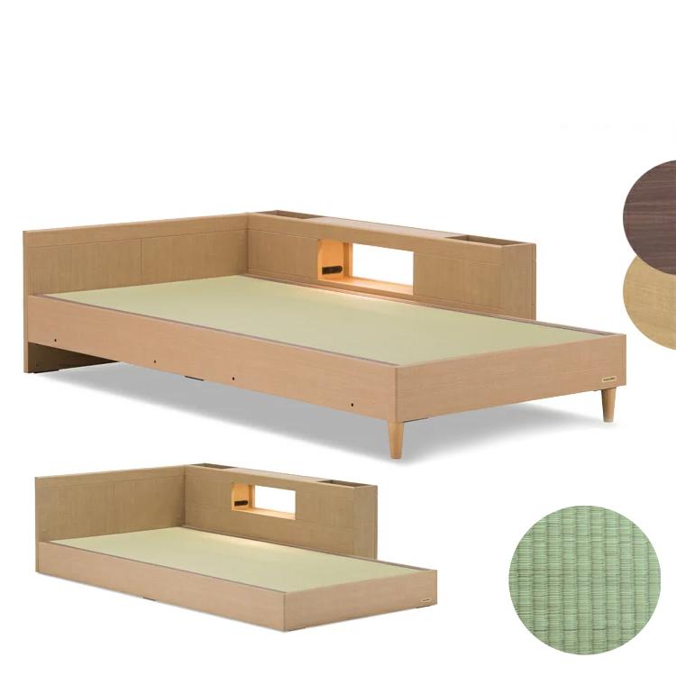 【シングル+ヘッドボード有+キャビネット1個】タタミーノ 畳ベッド 国産 Francebed フランスベッド