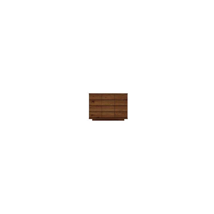 【11/4(月)20時~クーポン有】 【幅119cm】【リビングボード】【ダークブラウン】木目の美しい節入り天然木シリーズ 日本製