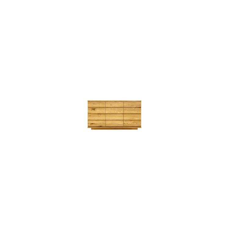 【幅154cm】【リビングボード】木目の美しい節入り天然木シリーズ 日本製