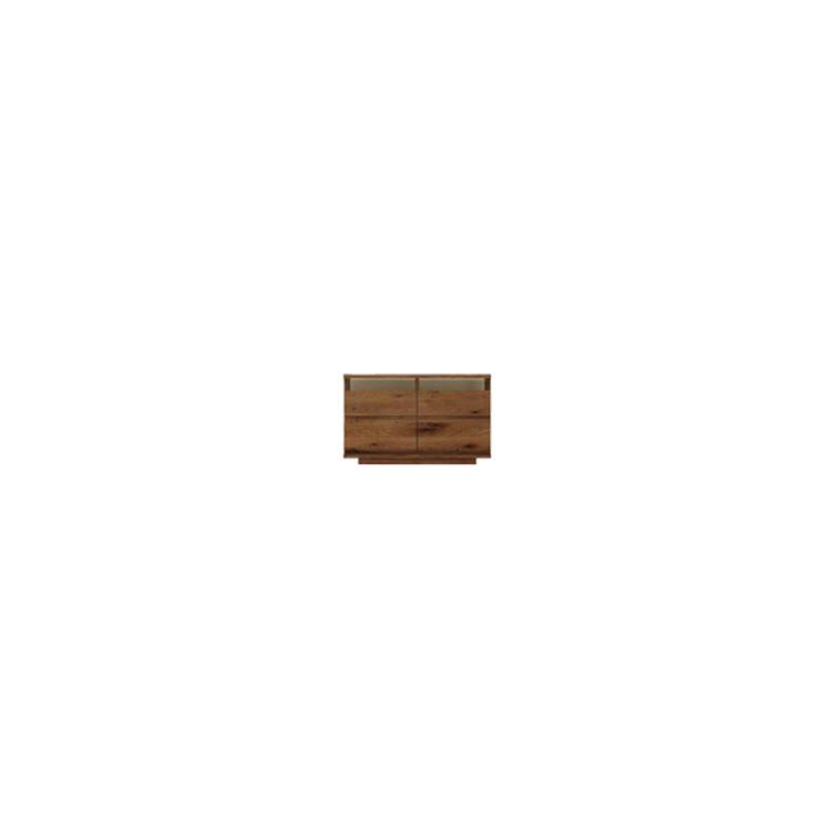 【11/4(月)20時~クーポン有】 【幅119cm】【ハイタイプテレビボード】【ダークブラウン】木目の美しい節入り天然木シリーズ 日本製