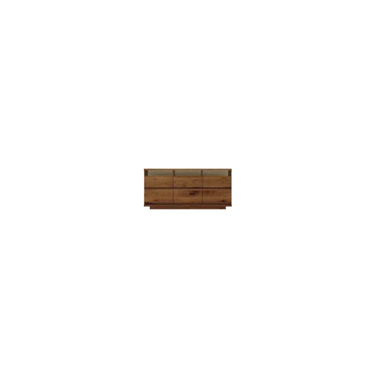 【幅154cm】【ハイタイプテレビボード】【ダークブラウン】木目の美しい節入り天然木シリーズ 日本製