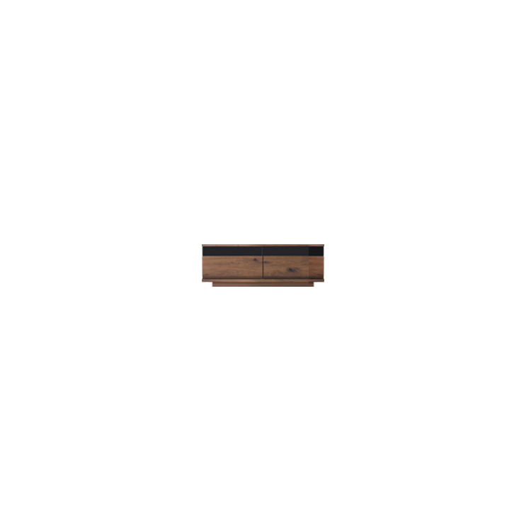 【幅119cm】【ロータイプテレビボード】【ダークブラウン】木目の美しい節入り天然木シリーズ 日本製