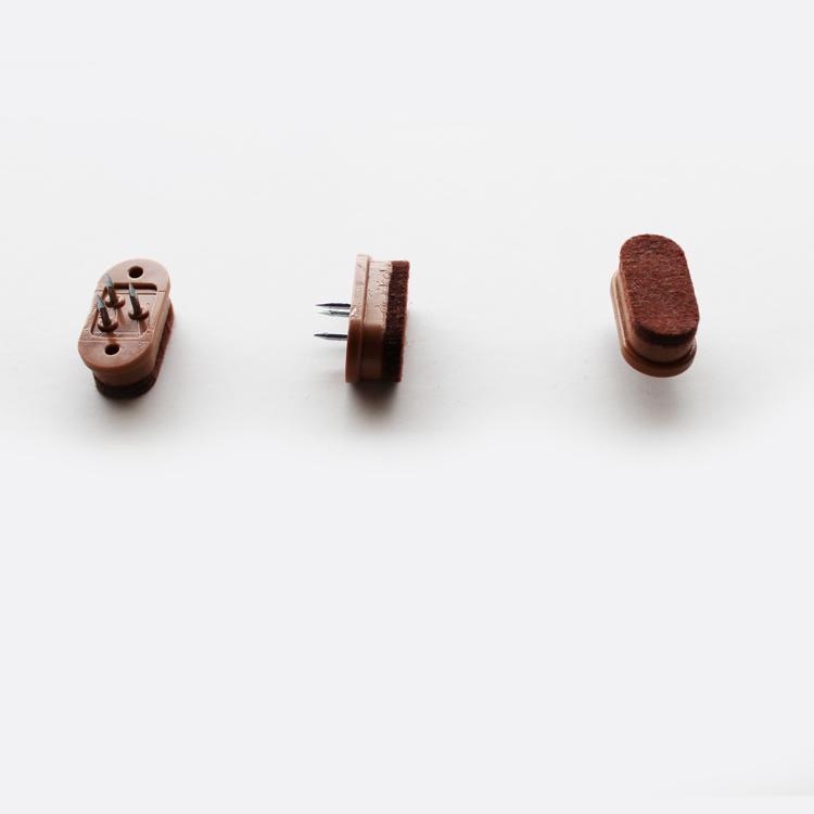【11/4(月)20時~クーポン有】 【16mm×33mm】【200個】【茶色】フロアガード【だ円】