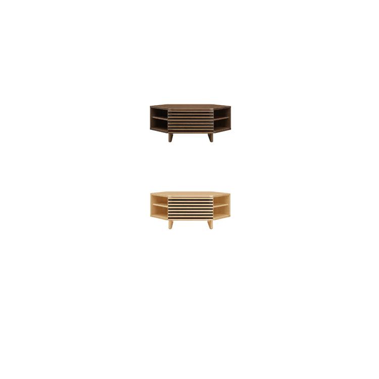 【送料無料】C-ボレロ コーナータイプ ウォールナット材と オーク材 から素材を選べて113、100、150cmテレビボード AVボード ローボード 北欧風 完成品 テレビ台 テレビボード