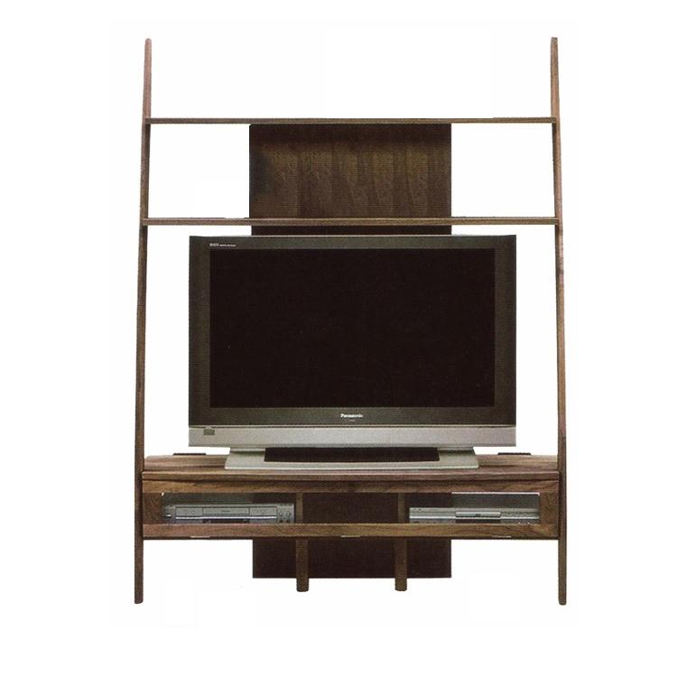ディープ テレビボード 135幅 テレビボード AVボード シェルフ テレビボード テレビ台 ローボード 天然木 無垢材 コーナー ミドルタイプ